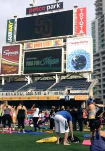 Yoga For Hope 2014 Petco Park, San Diego, CA.
