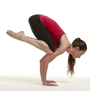 Tara Stiles in Crow Pose.